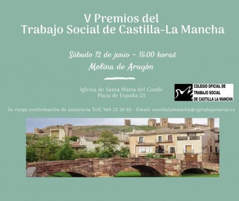 Molina de Aragón acogerá la entrega de los V Premios del Trabajo Social de Castilla-La Mancha