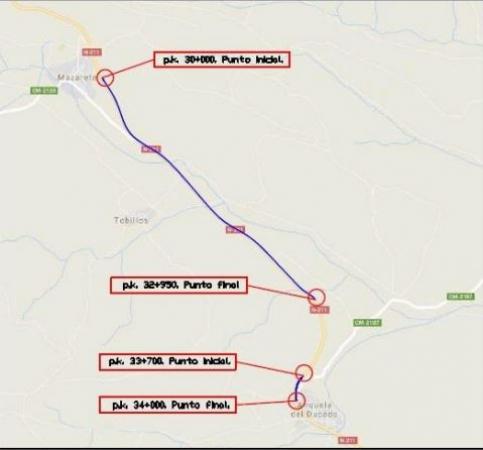 El Gobierno licita las obras de rehabilitación del firme de la carretera N-211 entre Mazarete y Anquela del Ducado