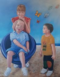 El síndrome de Angelman, protagonista de una exposición en Sigüenza