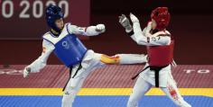 La taekwondista Adriana Cerezo, federada en El Casar, irrumpe en la final olímpica con una medalla de plata