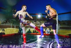 Fontanar vibró con el espectáculo de la MMA y con Álvaro Ucendo y 'El Toreador' Solves