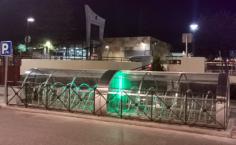 Entra en funcionamiento el aparcabicis inteligente del paseo de la Estación de Azuqueca