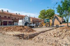 Comienzan las obras del aparcamiento de Carpinteros en Marchamalo