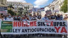Horche levantó su voz en la manifestación contra la ocupación ilegal frente al Congreso
