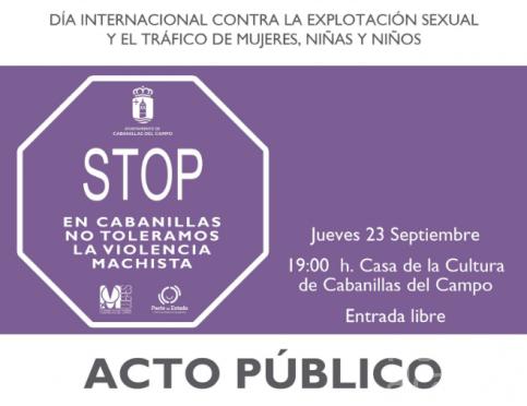 Teatro para concienciar contra el tráfico de mujeres y la explotación sexual en Cabanillas