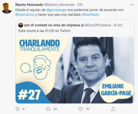 ¿El streamer Ibai Llanos se atreverá con García-Page?