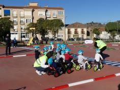 Escolares del colegio San Antonio Portaceli, de Sigüenza, aprenden educación vial